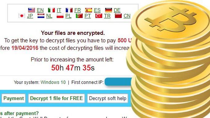 Bitte in Bitcoins: Wer CryptXXX zum Opfer fällt, muss zahlen.