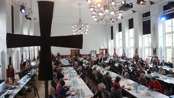 Die Vollversammlung des ZdK findet in Leipzig statt - hier in der Kongresshalle.