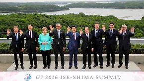 G7-Gipfel ohne Demonstranten: Europäer fordern Unterstützung in der Flüchtlingskrise