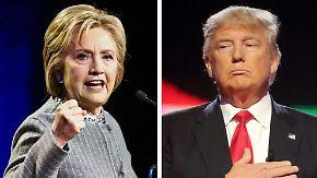 Clinton in Schwierigkeiten: Trump hat Kandidatur der Republikaner sicher