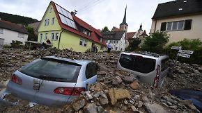 """""""Naturkatastrophe"""" im Süden Deutschlands: Unwetter hinterlassen Schneise der Verwüstung"""