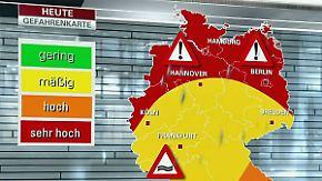 Starkregen, Sturmböen, Hagel: Unwettergefahr verlagert sich in den Norden und Westen