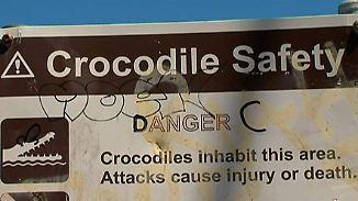 Nächtliches Bad im Ozean trotz Warnung: Badende Frau nach Krokodil-Angriff vermisst
