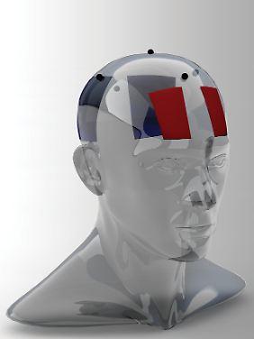 Die Anordnung der Elektroden am Kopf.