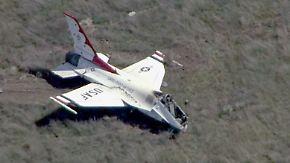 Formations-Flug für Obama: US-Kampfjet stürzt bei Air-Force-Abschlussfeier ab