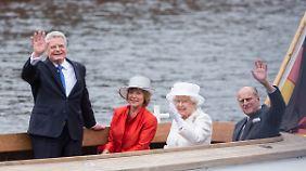 Im Juni 2015 besuchte Queen Elizabeth mit ihrem Mann Prinz Philipp Berlin - hier konnte Bundespräsident Gauck alle Facetten seines Amtes ausspielen.