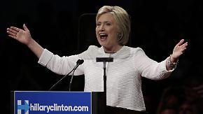 Historischer Sieg bei US-Vorwahl: Clinton erklärt sich zur Spitzenkandidatin