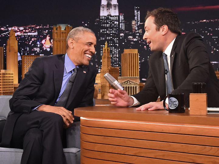 Auch Präsident Obama schaut gerne mal bei Jimmy Fallon vorbei.