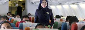 An Bord einer Maschine der Rayani Air