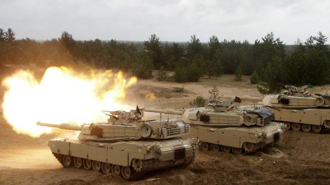 US-Panzer bei einer Nato-Übung in Lettland im vergangenen Sommer.
