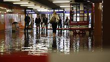 Land unter: Unwetter treffen Rhein-Main und Hamburg
