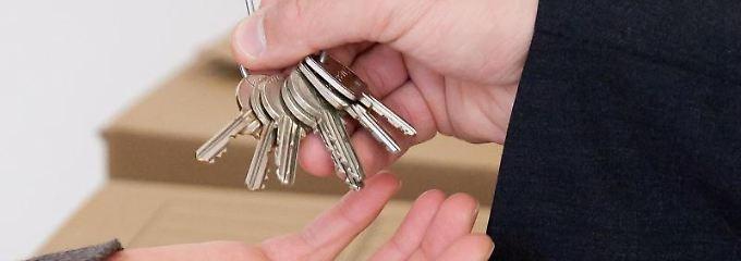 Der Mieter ist für die erhaltenen Schlüssel verantwortlich.