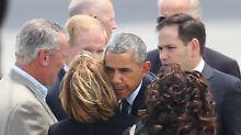 Barack Obama bei seiner Ankunft in Orlando.