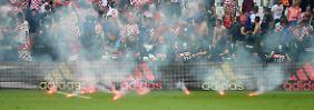 Randale gegen Korruption: Was macht die Uefa mit Kroatien?