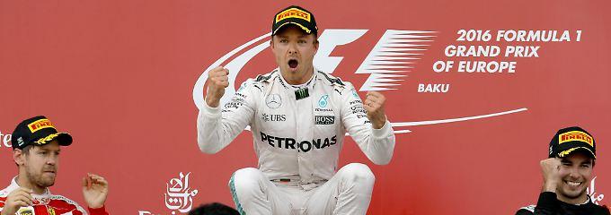 Nico Rosberg gewinnt im Silberpfeil souverän den Großen Preis von Baku.