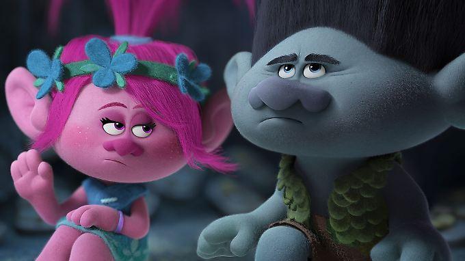 """Im Animationsfilm """"Trolls"""" spricht Lena Meyer-Landrut Prinzessin Poppy (l.)."""