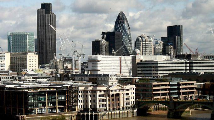 In Londons Bankenviertel könnten bald Büros frei werden.
