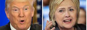 Kopf-an-Kopf-Rennen: Trump überholt Clinton in Umfrage