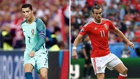Erstes Halbfinale der EM: Bale und Ronaldo messen ihre Kräfte