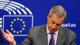 """Brexit-Befürworter Farage triumphiert: """"Glaube, dass das Projekt Europäische Union jetzt stirbt"""""""