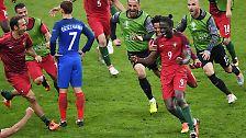 Falter-Invasion, Final-Tränen, Flitzer, Krawalle: Portugal erlöst Ronaldo, bricht Frankreichs Herz