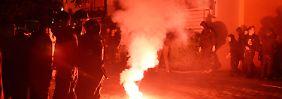 Eine Demonstration von Linksradikalen am Samstag artete in gewalttätigen Zusammenstößen aus.