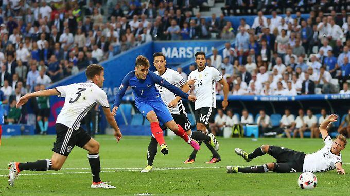 Antoine Griezmann erzielt das zweite Tor gegen die DFB-Elf - und besiegt den Fluch für Frankreich.