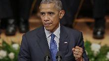 """""""Herzen öffnen, Gräben überwinden"""": Obama beschwört die Amerikaner"""