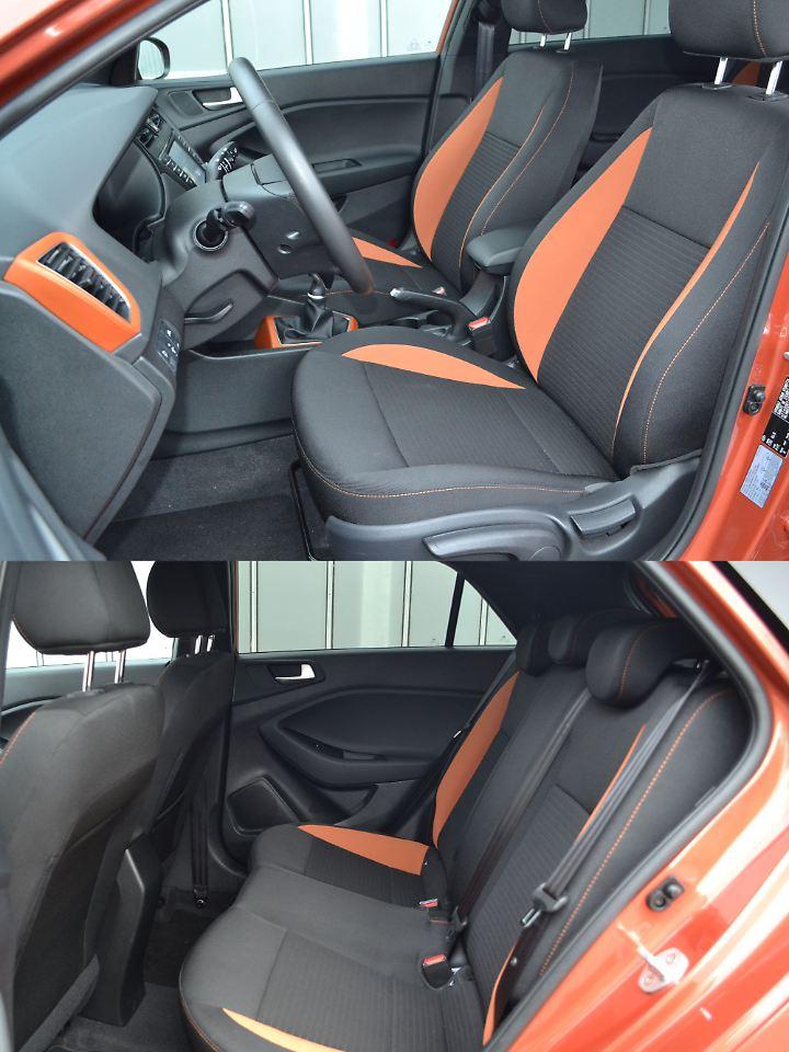Die Sitze im Hyundai i20 Active sind straff und haben ausgezeichnet ausgeformte Seitenwangen.