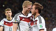 Rio, 13. Juli 2014: Deutschland ist Weltmeister - auch dank André Schürrle und Mario Götze.