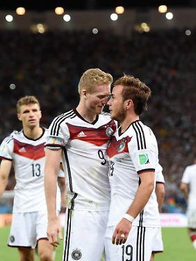 WM-Goldjungen: André Schürrle und Mario Götze im Maracanã.