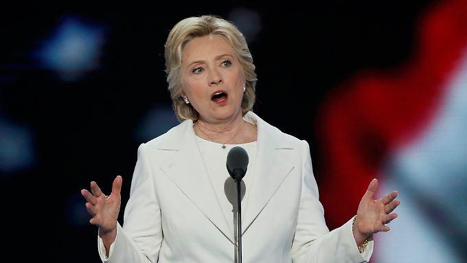 Der Schlusstag des Parteitags gehörte Hillary Clinton.