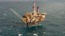 Shell-Ölplattform Gannet Alpha in der Nordsee.
