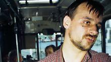 Dieter Degowski in einem gekaperten Bremer Bus.
