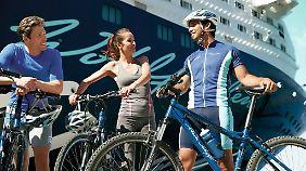 """Auf """"Mein Schiff"""" können Reisende Bike-Ausflüge buchen."""