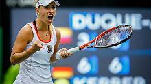 Souveräner Sieg gegen Angstgegnerin: Kerber bricht den deutschen Tennis-Fluch