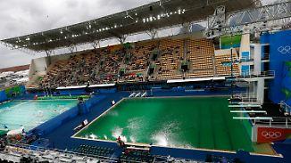 Drohnen-Unfall, grünes Wasser, leere Stadien: Pannen überschatten Olympia in Rio