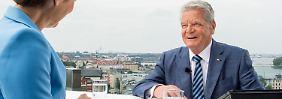 """Gauck verteidigt Kanzlerin Merkel: Deutschland ist kein """"sinkendes Schiff"""""""