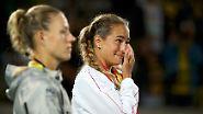 Mit der Silber- statt der Goldmedaille hatte die Australien-Open-Gewinnerin offenbar nicht gerechnet.