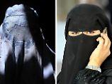 Was ist was? Von links: Burka, Nikab, Chimar, Hidschab (oder Kopftuch).
