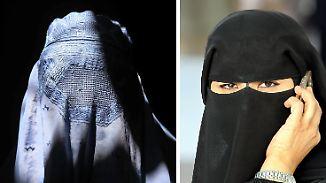 Ertragen oder verbieten?: AfD stößt mit Burka-Antrag auf Widerstand