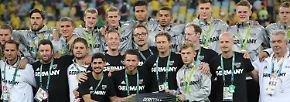 """Der scheidende DFB-Trainer Horst Hrubesch war trotz der Niederlage zufrieden: """"Wir gehen aus dem Olympia-Turnier als Gewinner, nicht als Verlierer. Ich bin rundum glücklich, auch wenn ich natürlich gerne Gold gehabt hätte."""""""