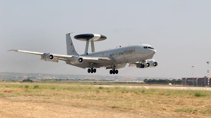 Awacs-Aufklärungsflugzeug im türkischen Konya.