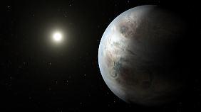 Der Stern HD 164595 ist fast genau so groß wie die Sonne und wird von mindestens einem Planeten umkreist.
