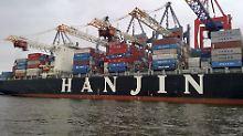 Aktie bricht ein: Hanjin flüchtet sich unter US-Gläubigerschutz