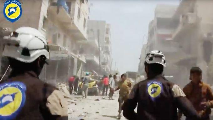 Viele Weißhelme sind bei ihrem Einsatz selbst den Bomben zum Opfer gefallen.