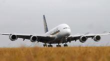 Singapore Airlines war Erstkunde beim A380.