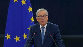 Grundsatzrede zur Lage der EU: Juncker prangert mangelnde Solidarität an