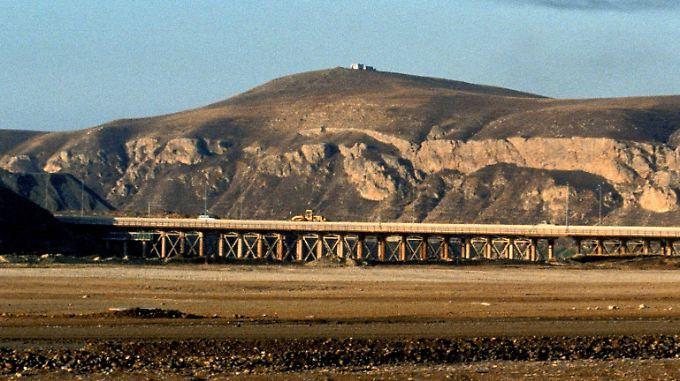 Berglandschaft im Nordirak. Hier bereiten sich US-Streitkräfte auf die Rückeroberung von Mossul vor.