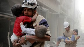 Mutiger Einsatz in Syrien: Weißhelme retten täglich Dutzende Menschenleben